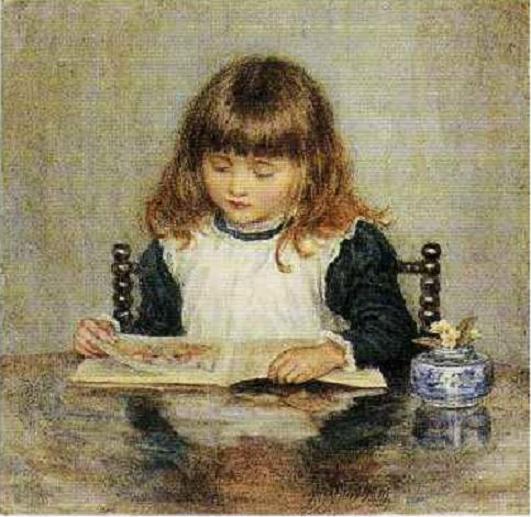 helen-allingham-inglaterra-menina-lendo-sem-data-aquarela