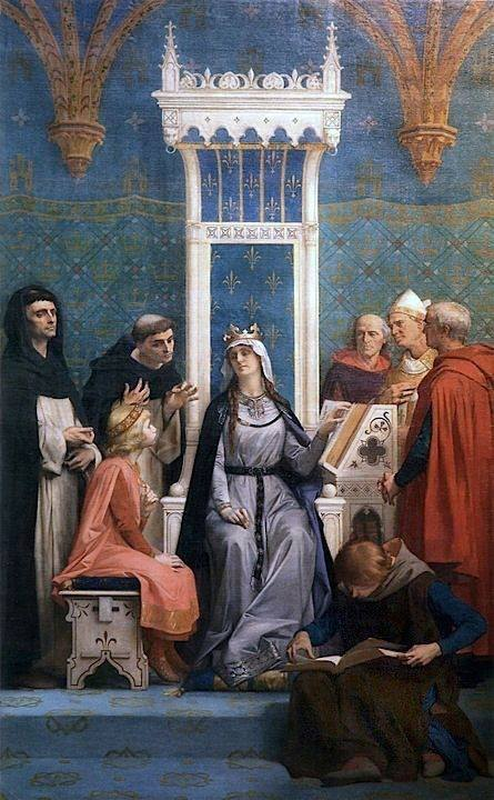 Saint Louis Educated by His Mother, Blanche of Castille
